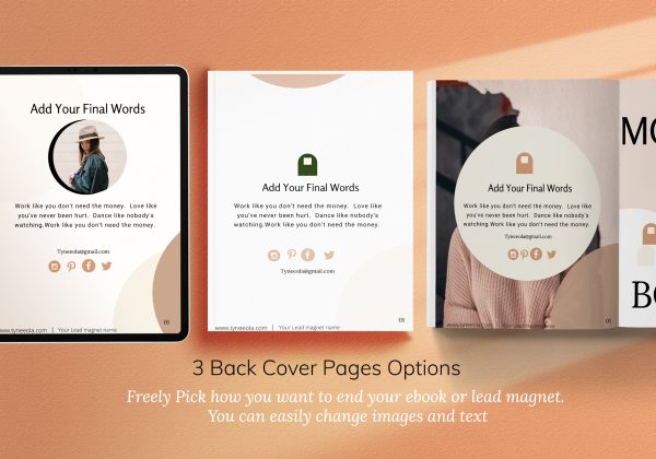 Ebook Template for bloggers made in Canva