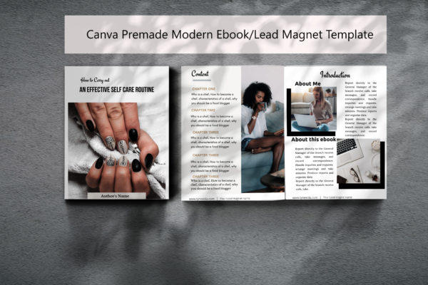 Mina is a lead magnet/ebook template made with canva