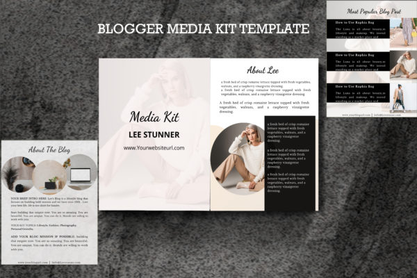 Media Kit Template Made in Canva