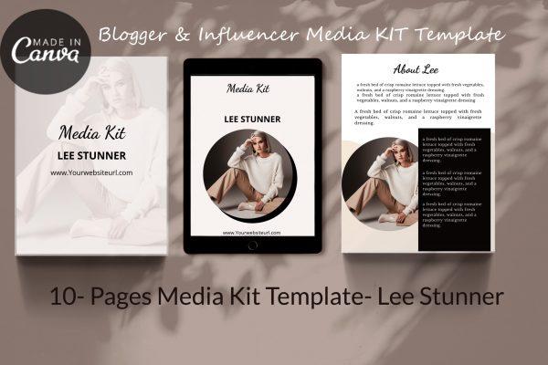 Blogger an d Influencer Media Kit Template
