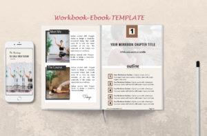 ebook-workbook template made in Canva