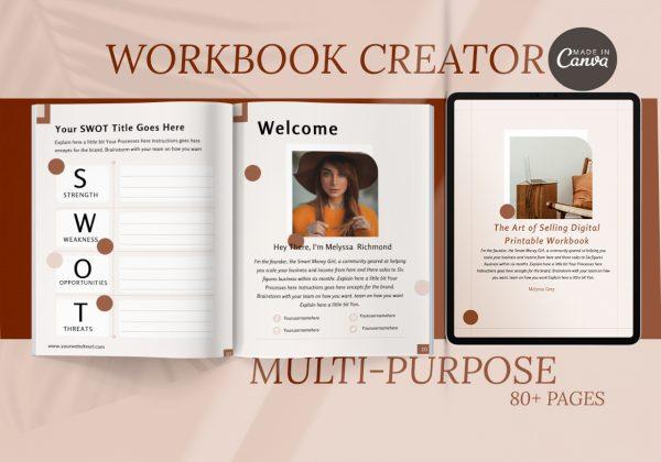 workbook Canva Template for Course Creators
