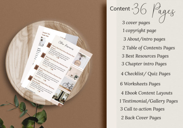 Workbook Template for bloggers