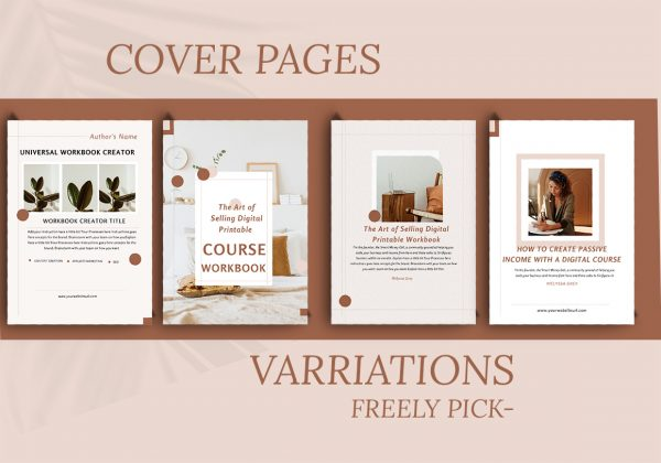 workbook canva template for bloggers and course creators