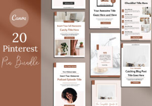 Pinterest Pin Canva Template Bundle for Blogger and Creatives