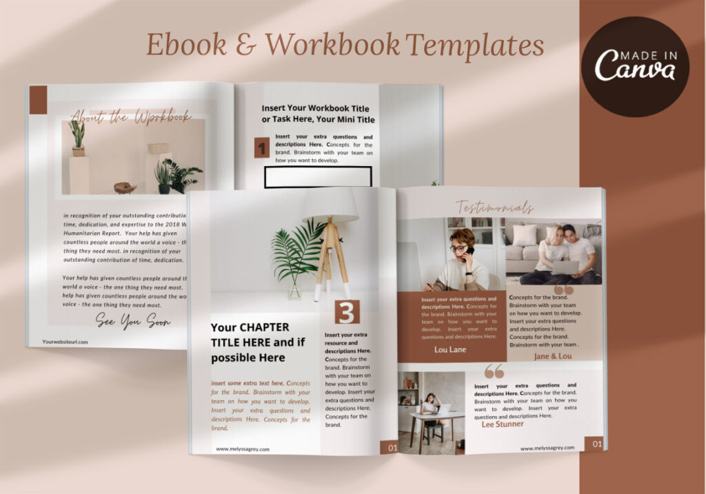ebook workbok templta emad in Canva