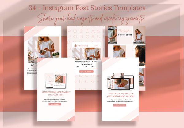 lead magnet marketing bundle Instagram templates